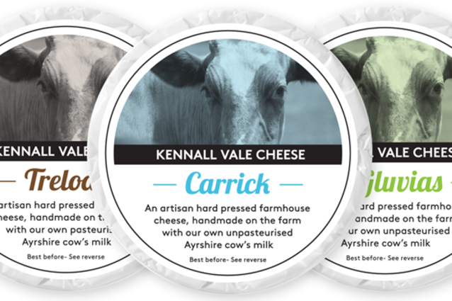 Kennall Vale Cheese Packaging